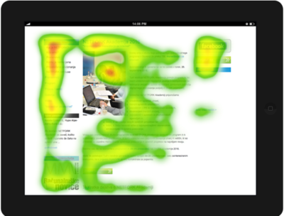 Heatmap - eye tracking analiza
