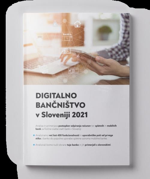Digitalno bančništvo v Sloveniji 2021 - naslovnica
