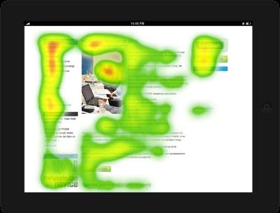 Heatmap - eye tracking analiza